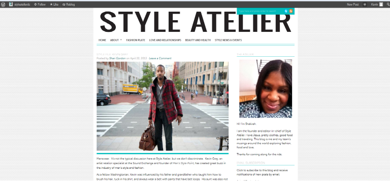 My feature on